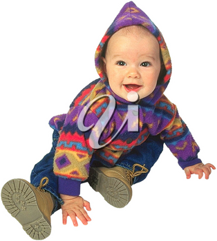 Royalty Free Photo of an Infant Child Sitting Happily