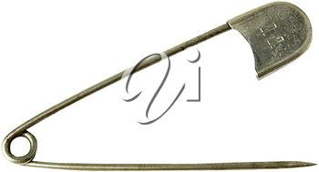 Royalty Free Photo of a Diaper Pin