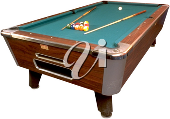 Royalty Free Photo of a Billiard Table