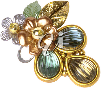 Royalty Free Photo of a Flowery Brooch