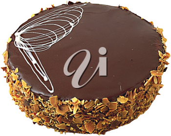 Royalty Free Photo of a Fancy Chocolate Cake with Decor on Top