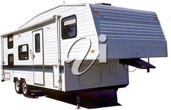Royalty Free Photo of a Fifth Wheel Trailer