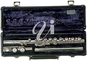 Royalty Free Photo of a Clarinet in a Case