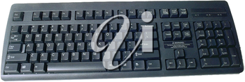 Royalty Free Photo of a Black Computer Keyboard