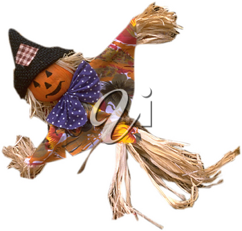 Royalty Free Photo of a Decorative Scarecrow