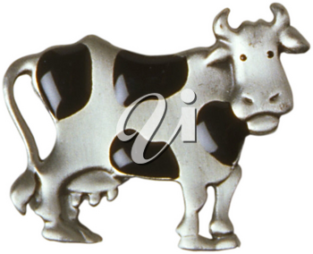 Royalty Free Photo of a Cow Brooch
