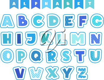 Cartoon alphabet. Letters fonts symbols and numbers vector colored funny characters isolated. Illustration of alphabetical education and colorful typeset english