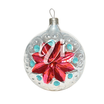 Christmas bauble isolated on the white background