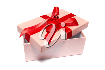 Open gift box isolated on white background