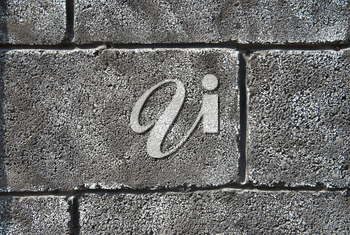 Gray grunge brick wall can be used for background