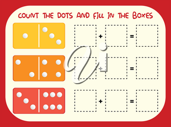 Count the dot and fill in the boxes illustration