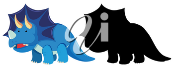 Set of triceratops character illustration