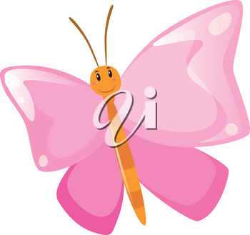 Butterfly with pink wings illustration