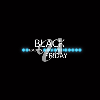 Black Friday with Loading Bar . Black Friday Sale Concept.