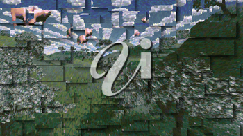 Tress of currency and dollar symbol clouds. 3D rendering