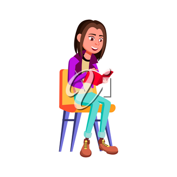 Teen Girl Poses Vector. Smoking Cannabis. Adult People. Casual. For Advertisement, Greeting, Announcement Design. Isolated Cartoon Illustration