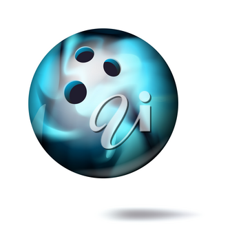 Realistic Bowling Ball Vector. Classic Round Ball. Sport Game Symbol. Illustration