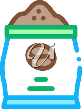 coffee production bag icon vector. coffee production bag sign. color symbol illustration