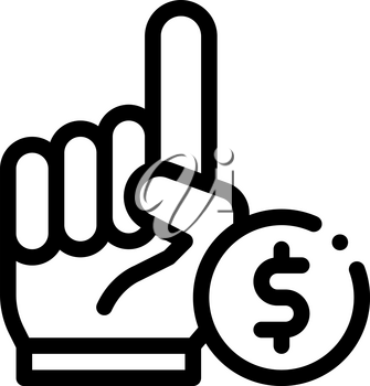 Hand Sign Money Betting And Gambling Icon Vector Thin Line. Contour Illustration