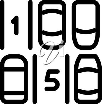 Parking Place Numbering Icon Vector. Outline Parking Place Numbering Sign. Isolated Contour Symbol Illustration