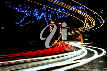 Light Trails Caterham On The Hill