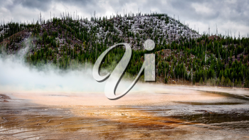 View of the Grand Prismatic Spring