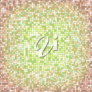 Abstract colorful distorted dotted, circular texture background.