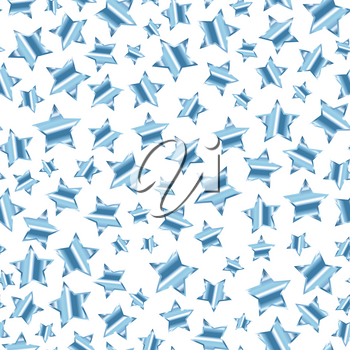 A lot of silver stars on white background seamless pattern