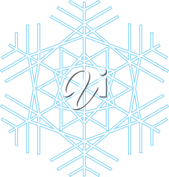 Snowflake icon blue color icon black color vector illustration isolated