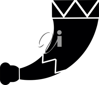 Horn viking icon black color vector illustration flat style simple image