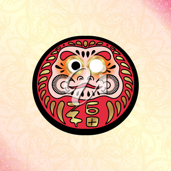 Daruma Japanese traditional doll, which embodies Bodhidharma in Japanese syncretic mythology. Deity, brings happiness.