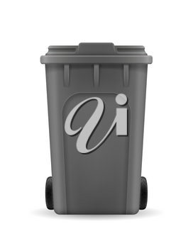 recycling bin trash bucket stock vector illustration isolated on white background