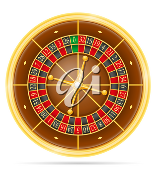 casino roulette stock vector illustration isolated on white background