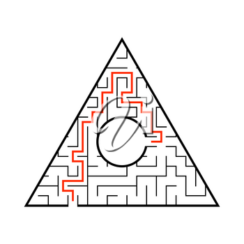 Abstact labyrinth. Game for kids. Puzzle for children. Maze conundrum. Vector illustration